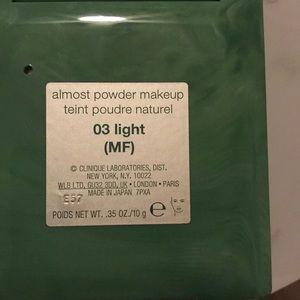Clinique Makeup - NIB Clinique almost powder shade 03 Light